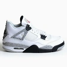 AIR JORDAN 4 RETRO WHITE CEMENT 2016 FIRE RED BLACK GREY DS OG NIKE 840606-192