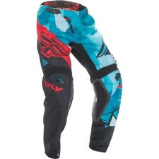 2017 Fly Racing Kinetic Crux YOUTH MX Motocross Pants - Teal / Black / Red