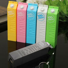2600mAh Newest Portable Milk Power Bank External Battery Charger Box For Phone