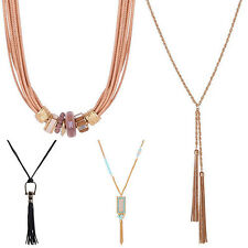 Women 11 Style Fashion Bohemian Long Tassel Pendant Charm Chain Necklace Novelty