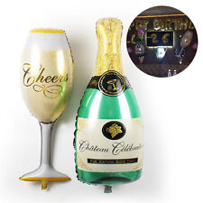 Champagne Bottle & Glass Wedding Birthday Party Decor Aluminium Foil Balloons