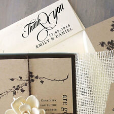 Wedding Thank You Stamp Custom Unmounted Wood Mounted Personaloized Rubber Stamp