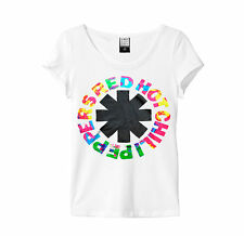 AMPLIFIED RED HOT CHILLI PEPPERS HYPER COLOUR WHITE WOMEN'S T-SHIRT