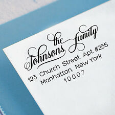 Wood Mounted Custom Family Address Stamp Personalized Unmounted Rubber Stamp