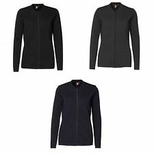 ID Womens/Ladies Fitted Full Zip Knitted Cardigan
