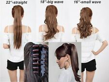 sexy Claw Pony tail Ponytail Clip In On Hair Extensions Wavy Curly 6 Colors tere