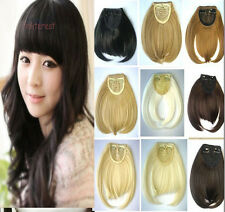 US SHIP Women Lady invisible Clip in hair extensions Bang Straight Hair Bangs