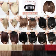 US sale Lady Clip On Clip In Front Hair Bang Fringe Hair Extension 14 colors tf6