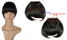 100% Pretty Girls Clip On In Front Hair Bang Fringe Hair Extension Straight tf6