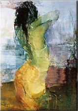 Handpainted Modern Abstract Art Canvas Oil Painting Wall Decor Figure Naked Girl