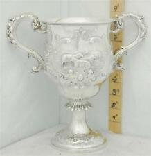 246 ANTIQUE  1863 ENGLISH STERLING SILVER TROPHY LOVING CUP BY BARNARD . SHEEP