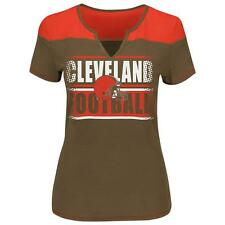 Majestic Cleveland Browns Short Sleeve Fashion Top