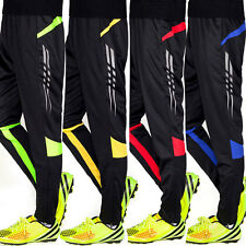 Men Kids Skinny Soccer Training Sweatpants Running Jogging Track Trousers Pants