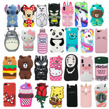 3D Cute Cartoon Case Soft Silicone Back Rubber Cover For Apple iphone Various