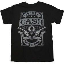 Men's Johnny Cash Mean as Hell T-Shirt Man In Black Rockabilly Music