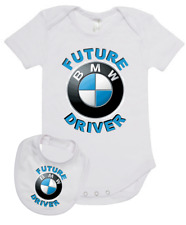Baby Romper Suit PLUS a Baby Bib printed with FUTURE HOLDEN DRIVER