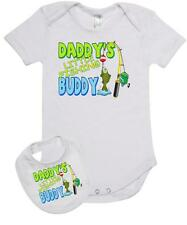 Baby Romper Suit PLUS a Baby Bib DADDYS LITTLE FISHING BUDDY