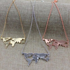 Fashion Combination World map Pendant necklace Hot New Personality Exaggerated