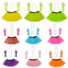 3pcs 1980s Adult Women Tutu Skirt Hen Party Fancy Dress Cosplay Costume Clothing