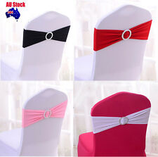 10/50/100PCS Wedding Event  Party Lycra Spandex Chair Cover Bands Sashes+buckle
