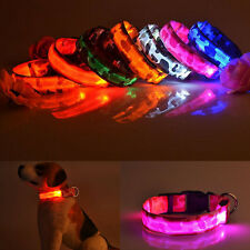 Night LED Light Nylon Light Up for Adjustable Safety Collar Flashing Pet Dog