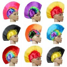 Rainbow Mohawk Hair Wig Fancy Costume Punk Rock Wigs Halloween Cosplay Party Hot