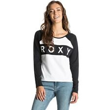 Roxy Loves Recipies Womens T-shirt Long Sleeve - True Black All Sizes