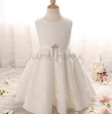 Flower Christening Dress Girl Kid Toddler Baby Baptism Wedding Party Skirt Gown