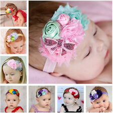 Cute Baby Infant Girls Hair Band Pearl Bow Lace Flower Headband Hair Accessories