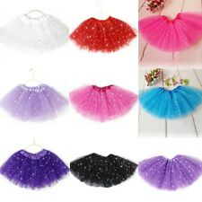 Girls Kids Princess Tutu Skirt Party Ballet Dance Costume Dress Tulle Pettiskirt