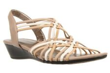 Baretraps Rose Natural Multi Womens Woven Elastic Sandal (nlrose)