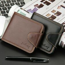 Men's Leather Wallet ID Card Bifold Wallet ID Credit Card Holder Coin Purse