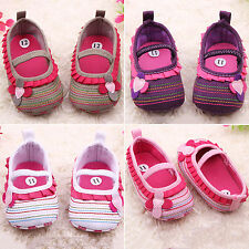 Slip-On Baby Girl Cute Sole Crib Toddler Newborn Flower Shoes 3-18 Months Boots