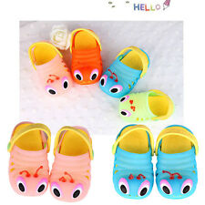Boy Girl Kid Fashion Cartoon Caterpillar Sandals Eva Hole Flats Slippers