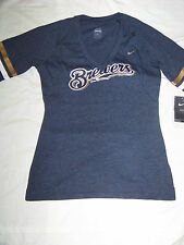 Nike Women's Milwaukee Brewers SlimFit V-Neck Shirt NWT