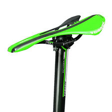 TOSEEK Full Carbon Color 2pcs Set Hollow Saddle+Seatpost  27/30/31 x 350mm Green