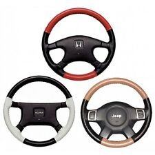 Custom Fit 1 or 2 Color Leather Steering Wheel Cover Wheelskins 15 3/4 X 4 1/8