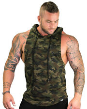 Strong Liftwear Boulder Sleeveless Hoodie Cotton Polyester Blend Boulder Cut