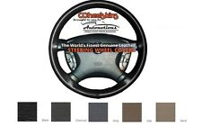 Custom Fit Leather Steering Wheel Cover Wheelskins Smooth Perforated Size AX