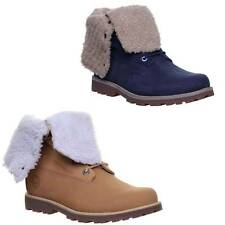 Timberland Authentic Sherling Lace up 6 inch Roll Top Size UK 3 - 7
