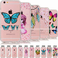 For Apple iPhone SE 5S 6S 7 Plus Acrylic+Soft Rubber Transparent Case Cover Skin