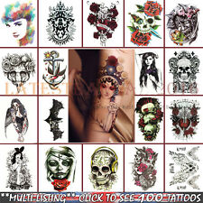 Arm Tattoos Stickers Fake Body 3D Waterproof Removable Temporary Body Art AU