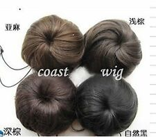 Black Dark Medium Brown Light Blonde Pony Tail Scrunchie Bun Hair Extension