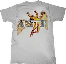 Led Zeppelin New Men T-Shirt S/S 100% Cotton White Colorful Swan Song in XL