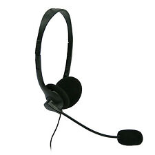 LIGHTWEIGHT 3.5MM HEADPHONES HEADSET WITH MICROPHONE MIC FOR COMPUTER PC LAPTOP