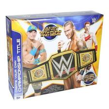 WWE MAKE YOUR OWN CHAMPIONSHIP BELT LATEST DESIGN CENA NEW LOGO OFFICIAL STORE