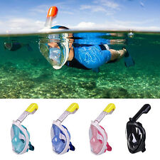 Swimming Full Face Mask Surface Underwater Diving Snorkel Scuba Swim Anti Fog