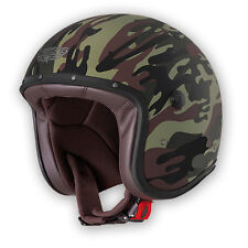 CABERG OPEN FACE FREERIDE COMMANDER GREEN CAMO SCOOTER MOTORCYCLE HELMET NEW