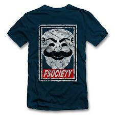 Fsociety T-Shirt Mr Robot Hacker Series Anonymous Mask Evil Corp Allsafe Cyberse