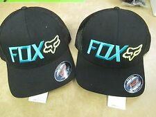 Fox Racing Warm Up Mesh Back Flex fit hat cap Black 15592-001 in stock L/XL